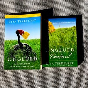 Unglued set with devotional by Lysa TerKeurst